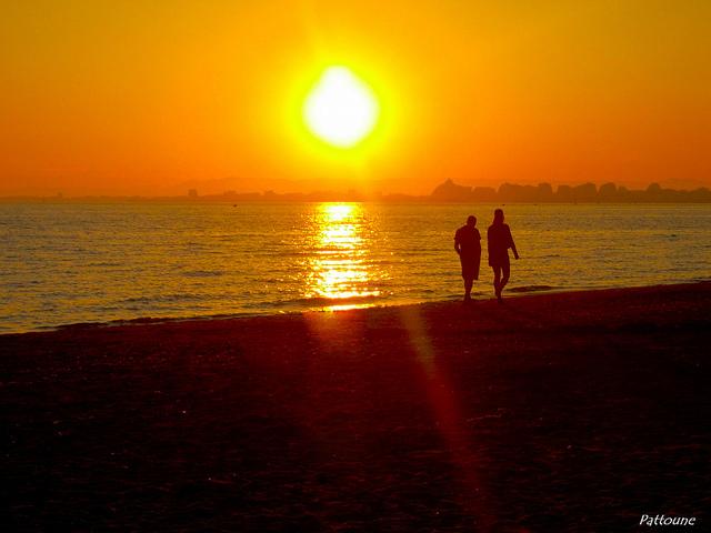 coucher de soleil par ( ( ( o : pattoune : o ) )