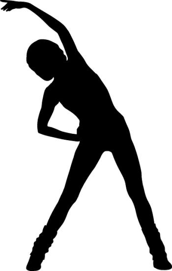 Silhouette de femme qui fait du sport