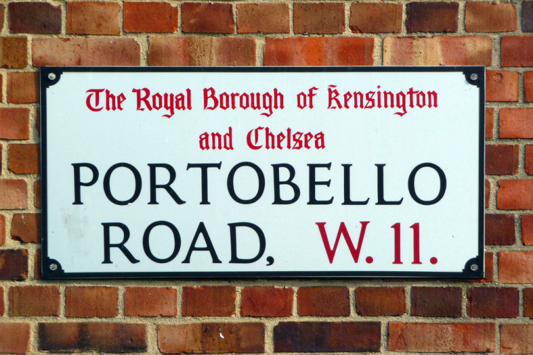 plaque de portobello road londres