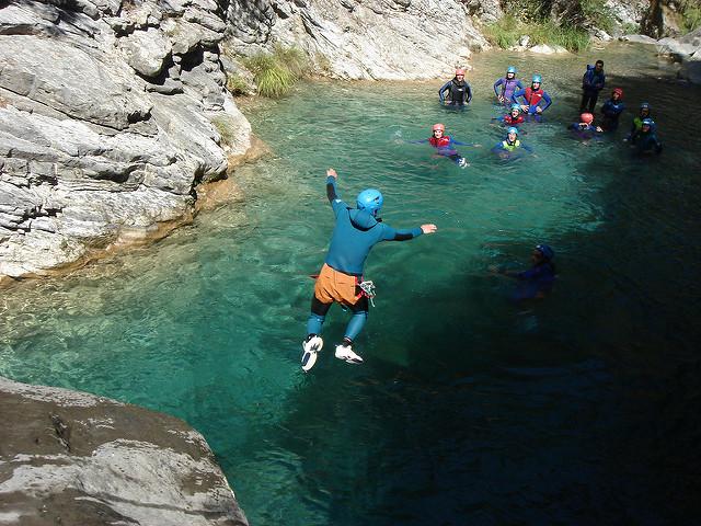 Participants à un canyoning.