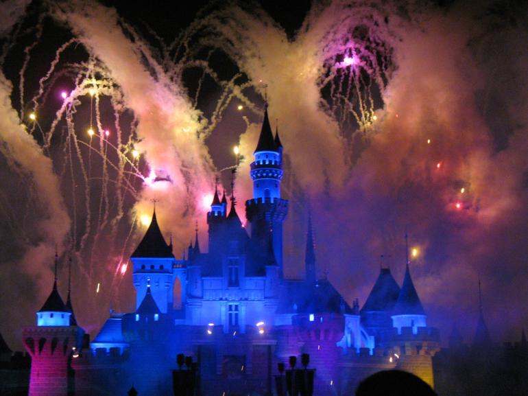 Château Disney de nuit