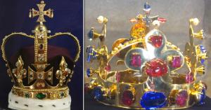 Couronne de la Reine et couronne fantaisie