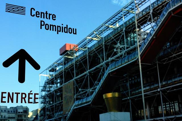 Photographie du centre Pompidou.