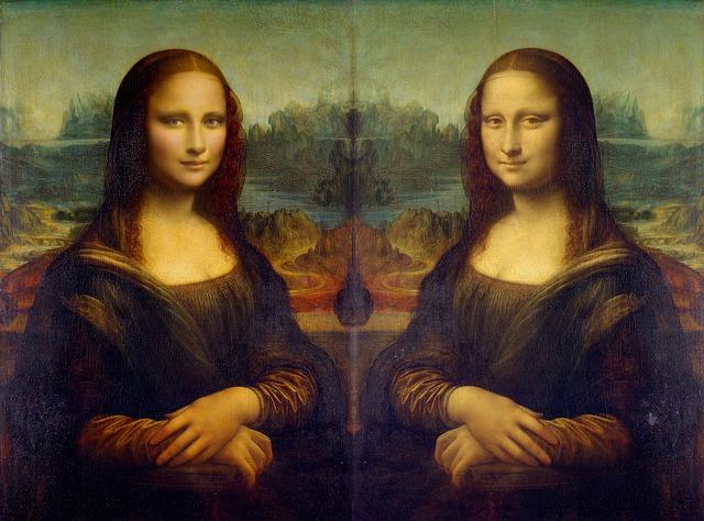 Montage représentant Mona Lisa en version relookée.