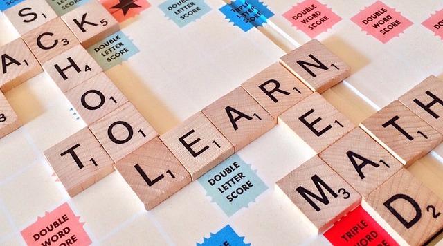 Scrabble anglais avec des mots éducatifs