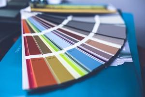 Palette de couleurs pentone.